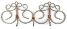Homemade Iron Silver Colored 3 Hook Copper Wire Hat Coat Towel Rack Decor B1