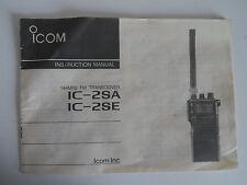 Icom - 2SA-2SE (Véritable Manuel d'instructions uniquement)... radio _ Trader _ Irlande.