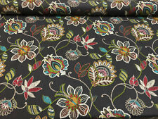 Richloom Matador Floral Rainbow Cotton Drapery Upholstery Fabric By The Yard