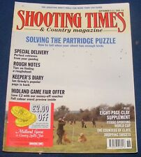 SHOOTING TIMES MAGAZINE SEPTEMBER 5-11 1991 - SOLVING THE PARTRIDGE PUZZLE