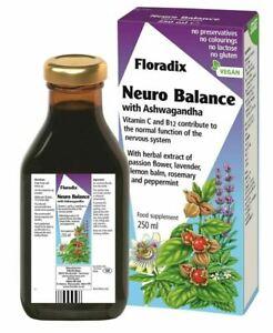 Floradix neuro balance with ashwagandha vitaminC & B12 with herbal extract 250ml