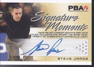 2008 PBA Bowling Autograph Signature Moments Steve Jaros