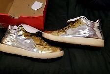 Nike NSW Tiempo 94 Mid DLX QS SZ 10 Liquid Metal Metallic Gold Silver Very Rare