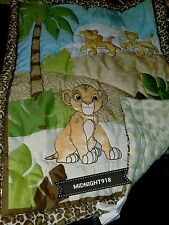 LION KING URBAN JUNGLE 4 PC CRIB BEDDING SET + SIMBA WALL DECOR +5 COLLECTIBLE
