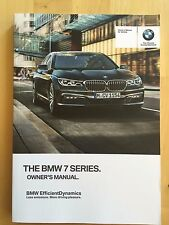 New BMW Owner's Manual 7 Series 750i X-Drive 2016-17