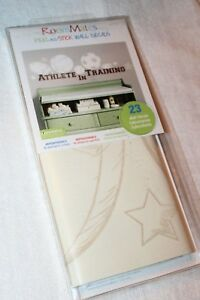RoomMates Peel & Stick 23 Wall Decals Beige Sports Athlete in Training