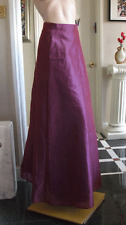 UK 6-8 Fabulous Mellaic Maroon Wine Double Layer Full length Evening Maxi Skirt