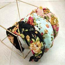 Women's Knot Hairband Headband Floral Print Wide Hair Band Hair Accessories
