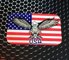 "American Bald Eagle Proud USA Flag Domed Decal Emblem Car Sticker 3D 3.1""x 2"""