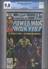 Power Man & Iron Fist #78 CGC 9.0 1982 Marvel 3rd App Sabretooth El Aguila App