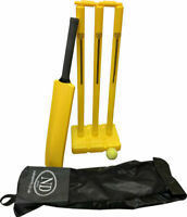 A Sports Powerplay Plastic Garden - Cricket Set Bat Stumps Ball Bag size 3 and 5