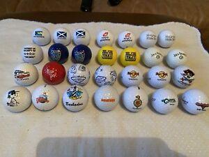 28 Souvenir Assortment Of Golf Balls