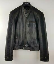 ARMANI JEANS Herren Lederjacke Men Leather Jacket Bikerjacke Jacke schwarz  50 M
