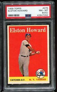 1958 Topps Baseball #275 ELSTON HOWARD New York Yankees PSA 8(OC) NM-MT