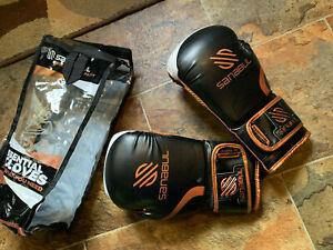 NEW Sanabul Essential Gel Boxing Kickboxing GLOVES SZ L COPPER LEATHER NIP 8 oz.