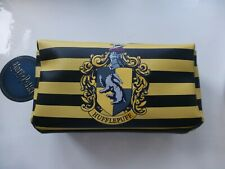 Harry Potter Hufflepuff Crest make up bag pencil case BNWT School College stripe