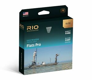 NEW RIO ELITE FLATS PRO WF-10-F #10 WT FLOATING FLY LINE IN GRAY/SAND/KELP COLOR