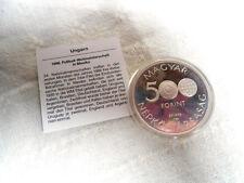 Münze 500 Forint Ungarn  WM Mexiko 1986 Silber PP  in Kunststoff-Kapsel