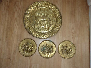 4 Brass plaques