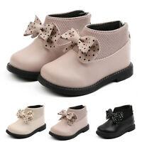 Baby Girls's Boots Toddler Infant Kids Bowknot Warm Short Ankle Boot Shoes UK