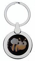 CUTE BUMBLE BEE CHROME KEYRING