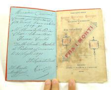 libro antico PADERNO PONCHIELLI  SCUOLA ELEMENTARE LIBRO ILLUSTRATO BAMBINI 1890
