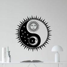Sun And Moon Yin Yang Wall Decal Sun Stars Vinyl Sticker BRAND NEW!!! 22''*x22''
