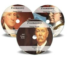 1400 Freemasonry Books on 3x DVD Library Masonic Rituals Secrets 1300 Images 225