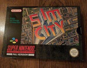 ☆ SIM CITY ☆ SUPER Nintendo SNES Game ♧ CIB ♧ PAL Super Nintendo  superb