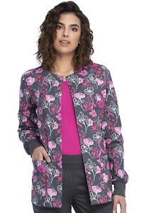 Cherokee Prints Snap Front Warm-up Jacket CK301 LOFA Loving Floral Free Shipping
