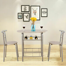 3PCS Dining Table Chair Set Kitchen Furniture Pub Bar Bistro Table Stool Set Kit