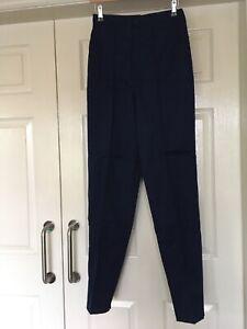 BNWT Alexandra H652U Work Nurses Carer  Trousers in Navy Size 10 x 32L