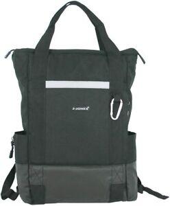 Damen Rucksack & Shopper 2in1 Daypack als Shopper tragbar schwarz mit Laptopfach