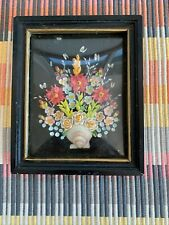 New listing Vintage 3D Real Seashells Shell Art Floral Bouquet Shadowbox Picture