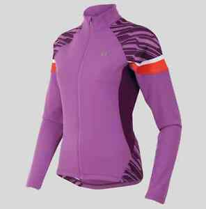 Pearl Izumi Womens Elite Thermal Cycling Jersey - Mauve and Dark Purple - Large