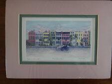 Jeanie Drucker - Matted Art Print - RAINBOW ROW - New and Sealed - 9 x 6-5/8""