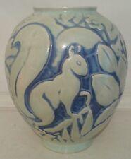 Rare Cowan Squirrel Vase, Waylande Gregory attr., Mother o' Pearl Glaze