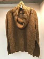 NEW XL Heather B Studio Cowl Neck Sweater Brown Gold Blend NWT