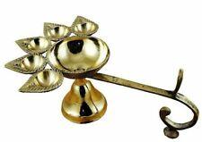 6'' Brass Diya Panch Aarti Oil Lamp Camphor Burner Diwali Puja Laxmi RELIGIOUS