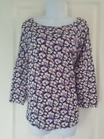 Womens Jumper size xl think purple flower casual vgc