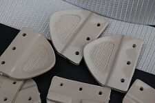 HT HG LC TORANA HOLDEN Seatbelt Plastic Tongue SANDALWOOD with Rivets