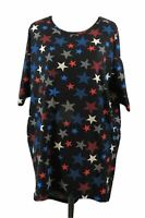Lularoe Red White Blue Stars Patriotic Americana Tunic Top XS
