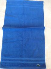 LACOSTE HAND TOWEL ROYAL BLUE LOGO  NWT