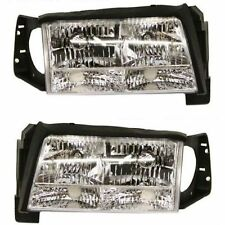 Cadillac Deville 97-99 Headlights Headlamps Pair Set of 2 Left Lh & Right Rh