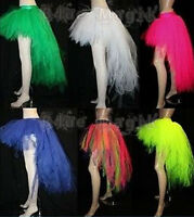 NEW NEON UV PINK, GREEN,BLACK 7 LAYERS LONG POINTED TUTU SKIRT HALLOWEEN CYBER