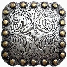 """Western Decor Gold Berries 1-3/8"""" Square Conchos Set of 6"""