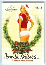 """CAMILLE ANDERSON """"DEC 25TH AUTOGRAPH #04/12"""" BENCHWARMER HOLIDAY 2013"""