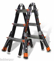13 1AA Fiberglass Little Giant Dark Horse Ladder w/Platform 15143