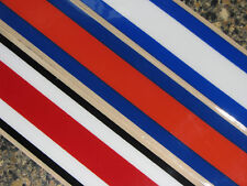 STRIPE Football Helmet Decal Multi Colored One Piece Qty (1) 3M 20MIL
