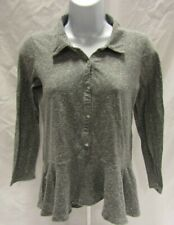 Women's Small Gray Abercrombie & Fitch Long Sleeve Top